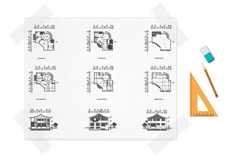نقشه خانه دوبلکس