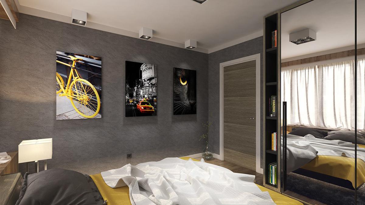 دکوراسیون اتاق خواب زرد