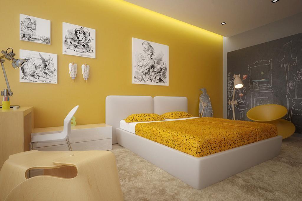 طراحی خواب کودک - زرد