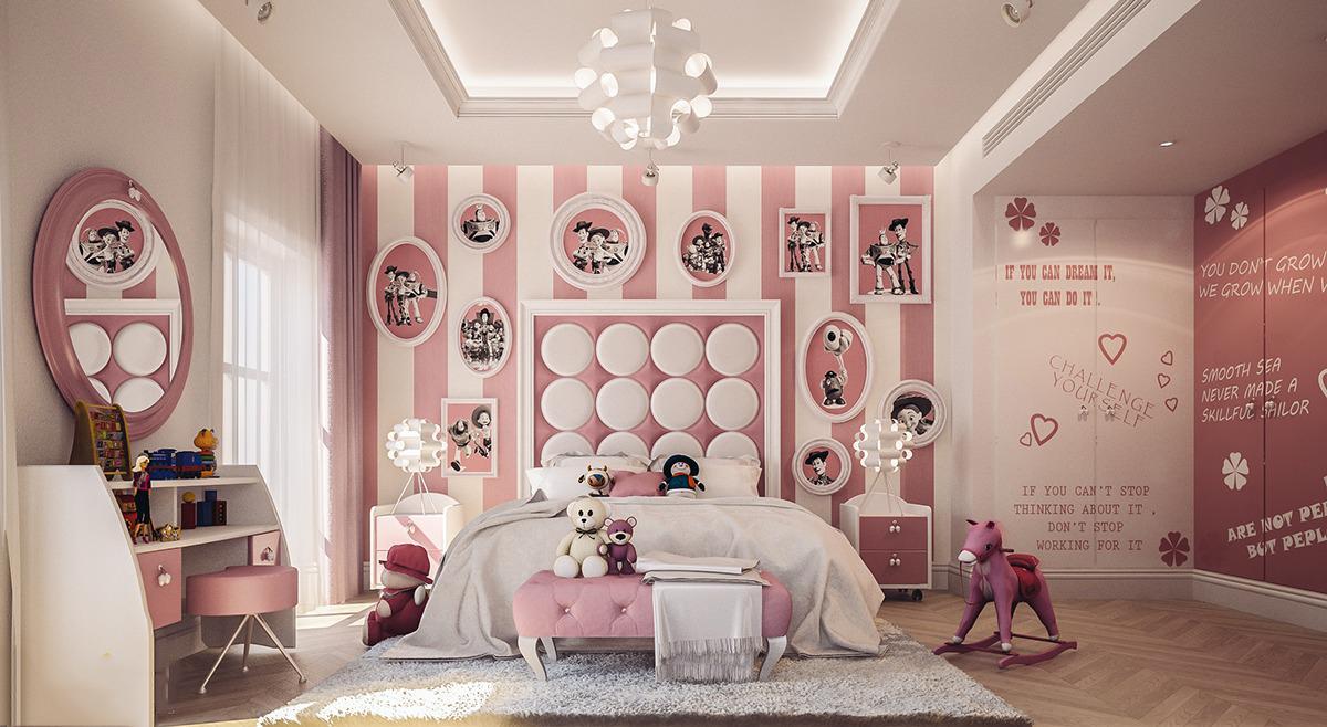 عکس اتاق خواب دخترانه