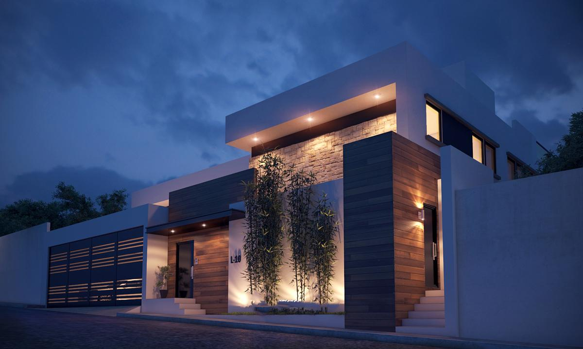 نمای سنگ ساختمان مدرن