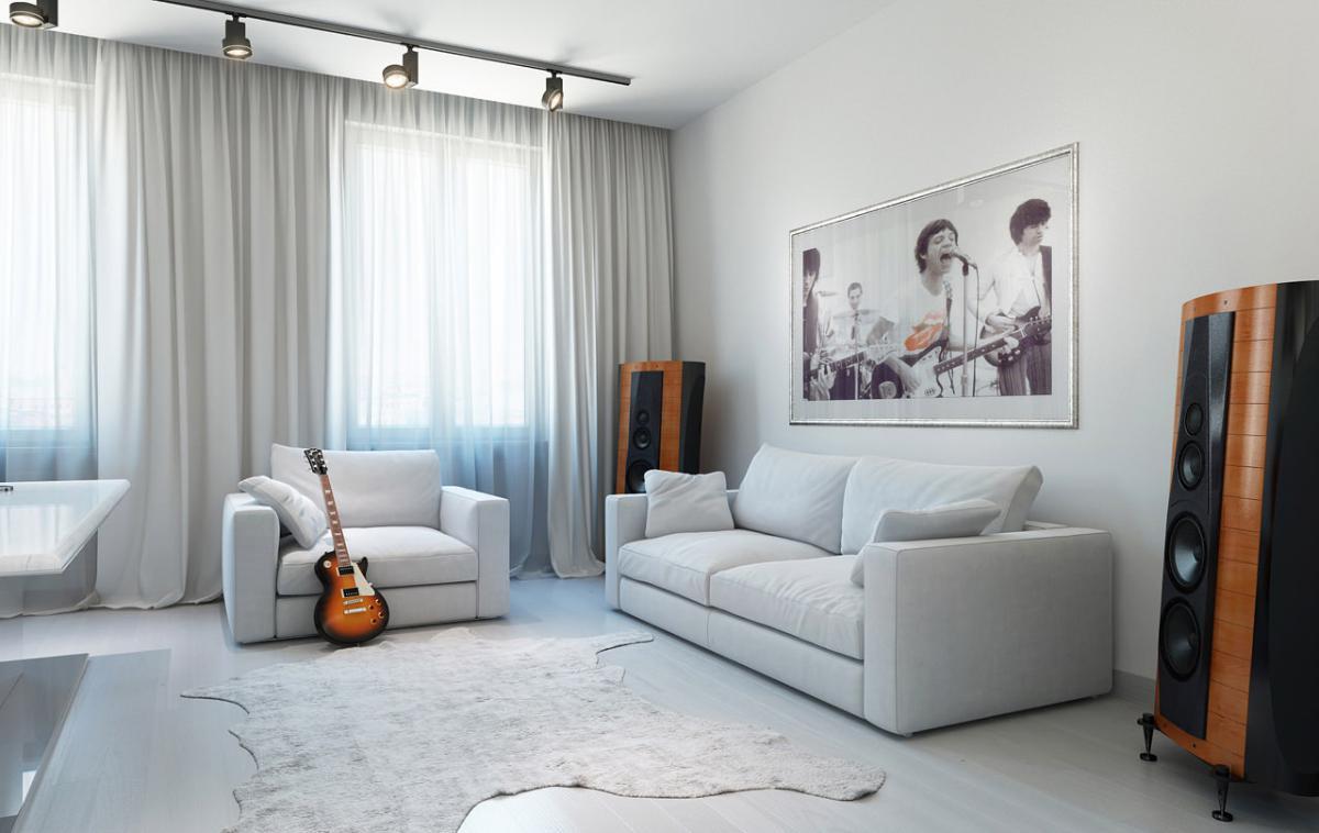 طراحی نورپردازی منزل سفید