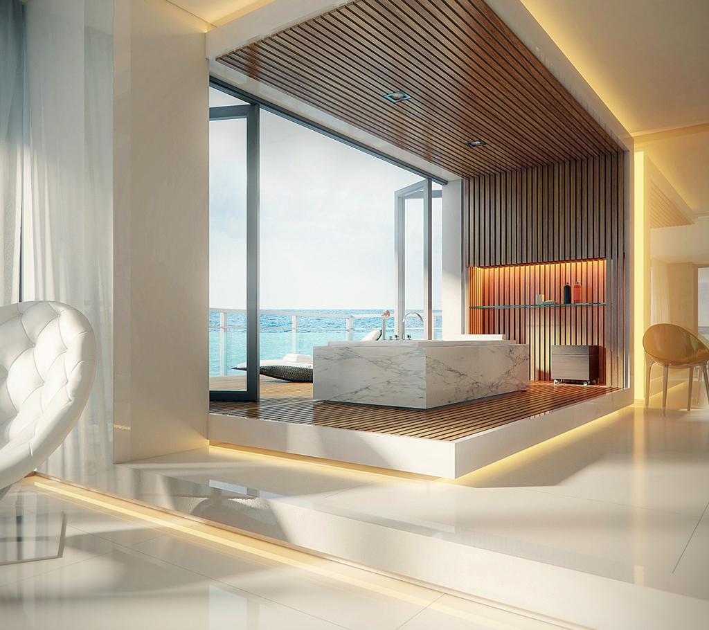 طراحی حمام لوکس سفید