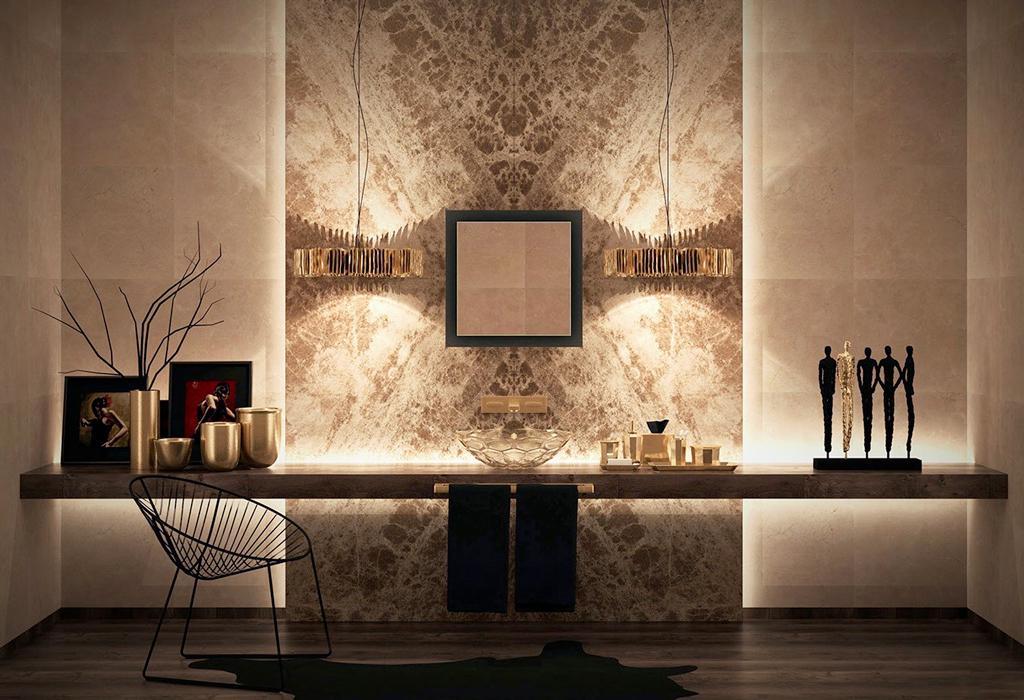 حمام لوکس - طلایی