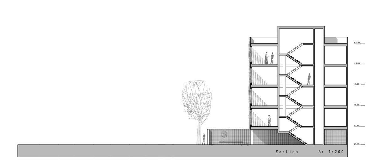 پلان ساختمان 4 طبقه