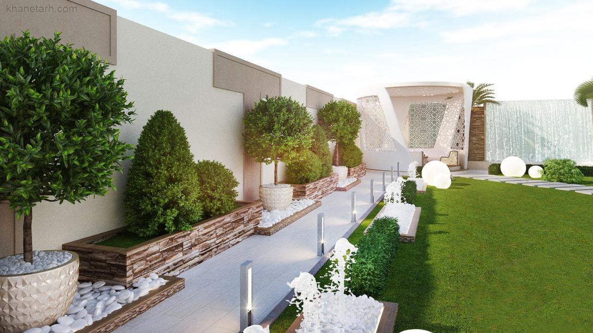 طراحی فضای سبز ویلا