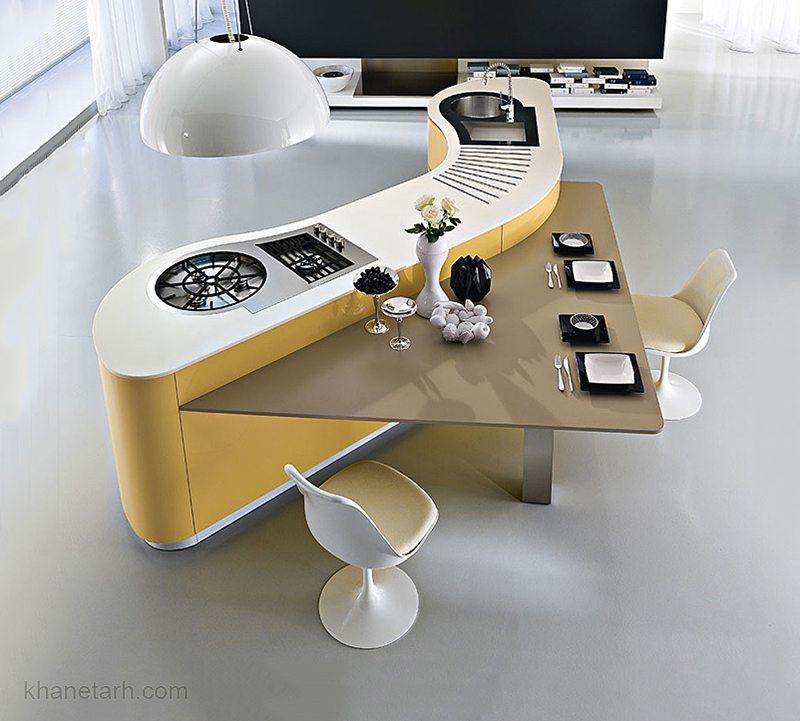مدل کابینت آشپزخانه جزیره