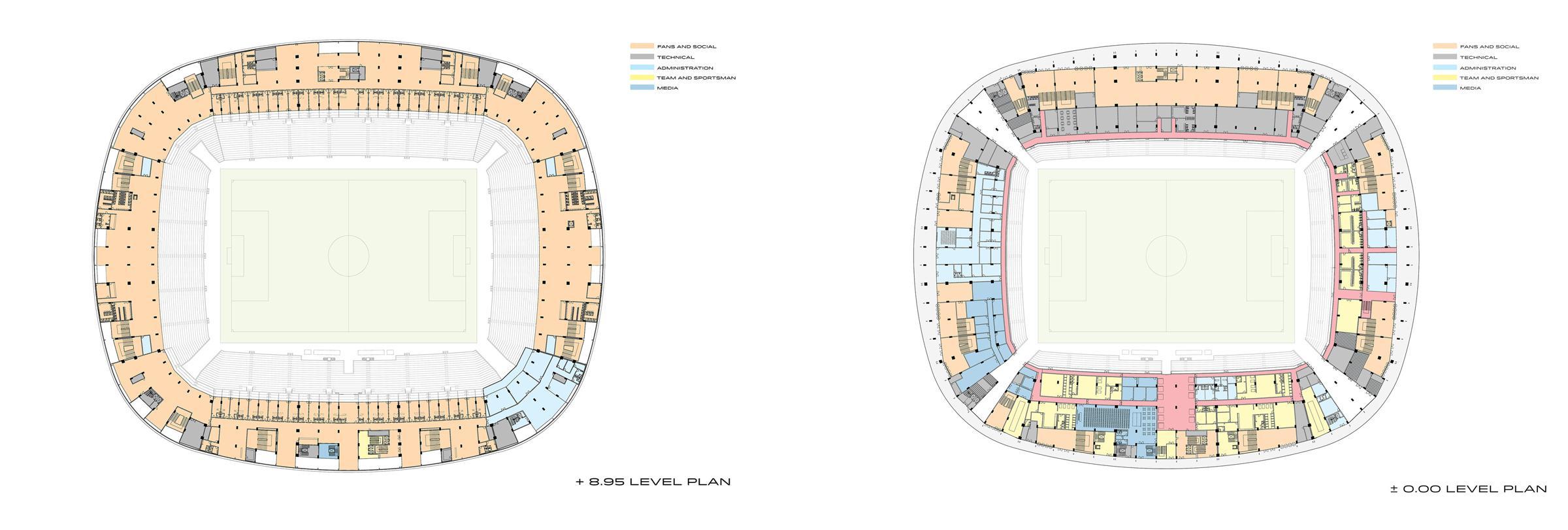 پلان استادیوم