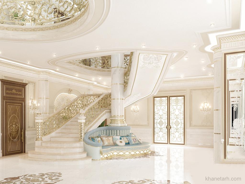 دکوراسیون داخلی خانه های بزرگ: دکوراسیون داخلی خانه ویلایی لوکس