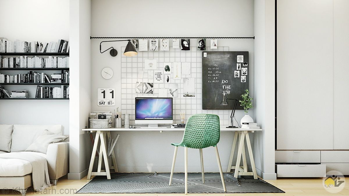 دیزاین دفتر کار کوچک