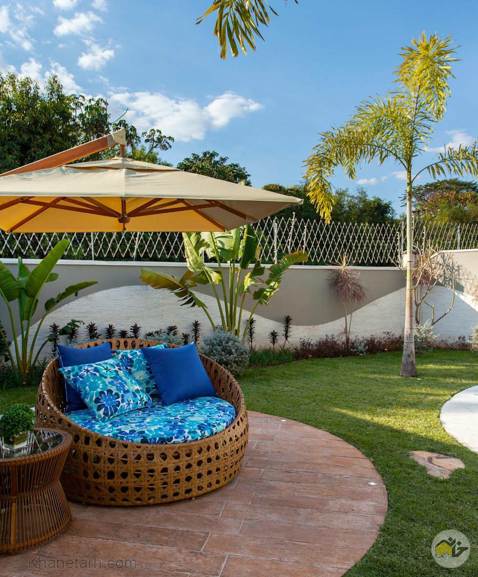 طراحی حیاط خانه های ویلایی