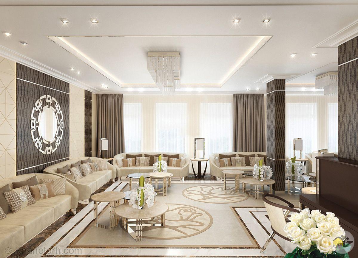 دکوراسیون داخلی خانه های بزرگ: 15 عکس دکوراسیون داخلی منزل لوکس در دبی