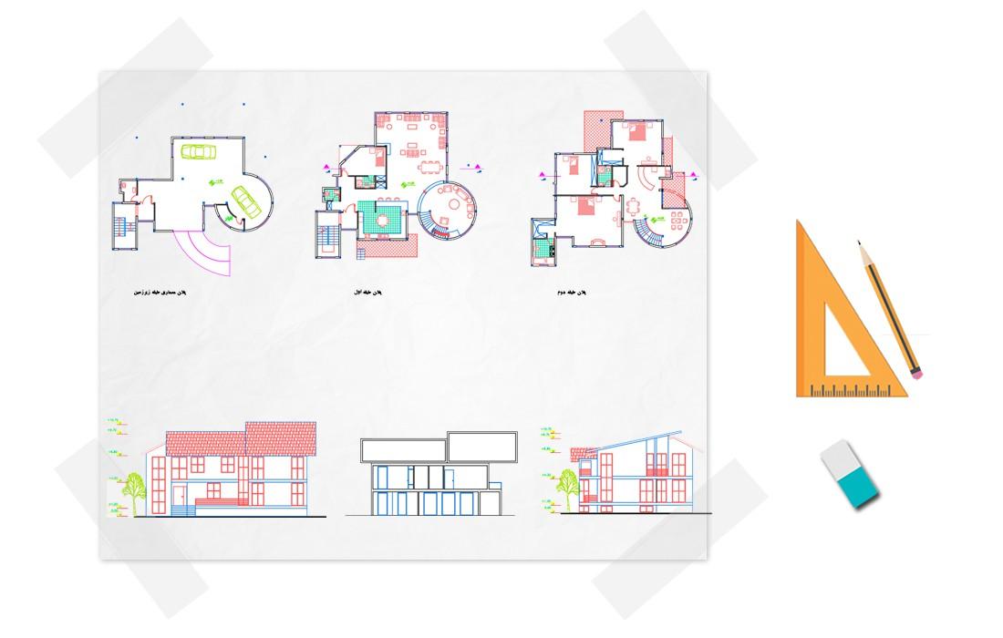 نقشه خانه ویلایی