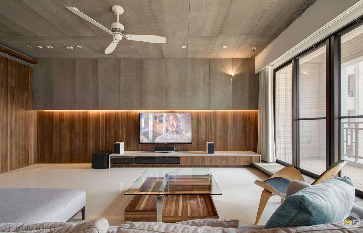 میز تلویزیون دیواری ساده