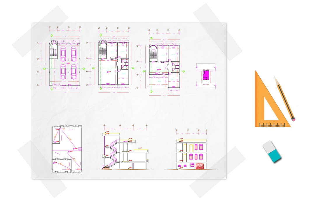 نقشه خانه دو خوابه