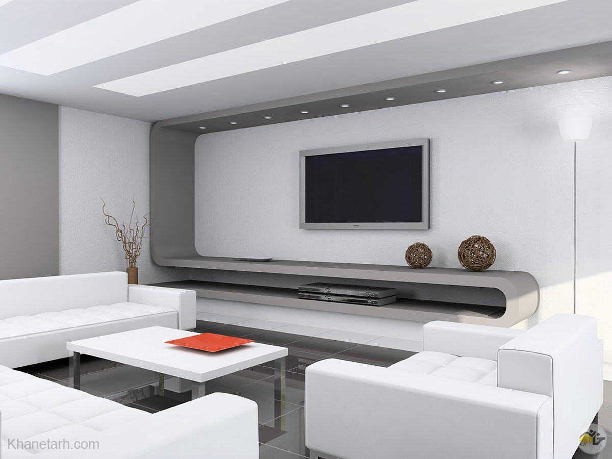 دکور تلویزیون روی دیوار