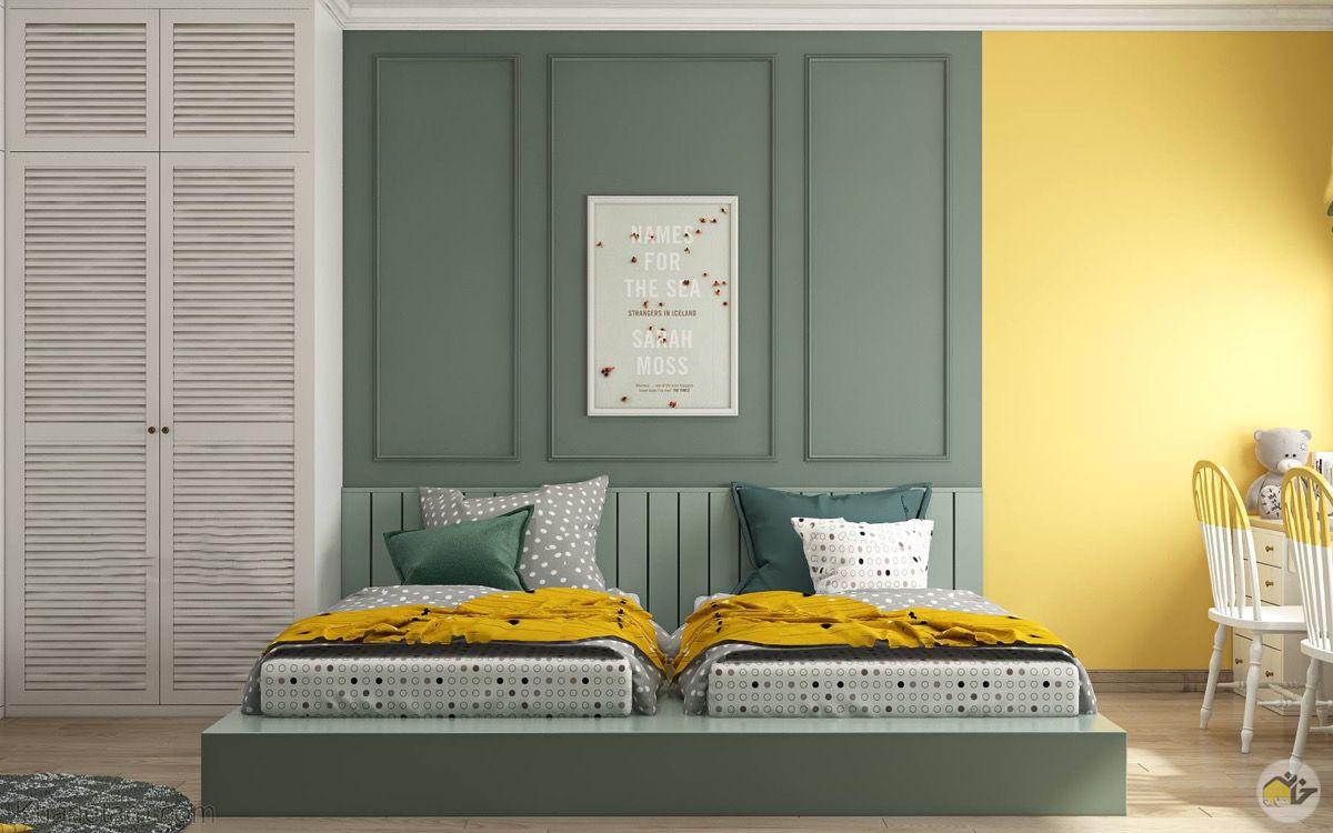 اتاق خواب زرد
