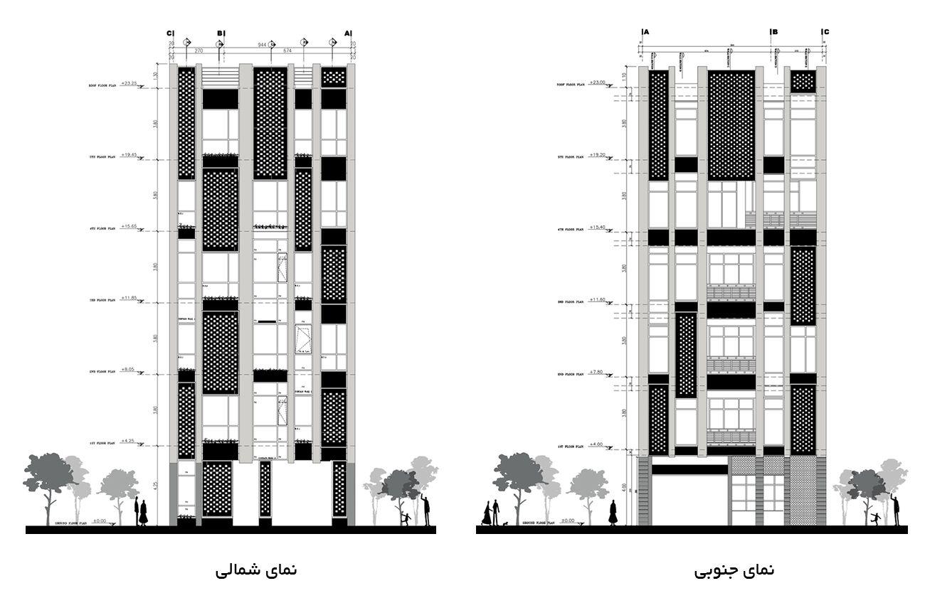 ساختمان 5 طبقه