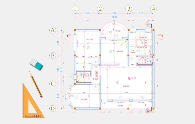نقشه خانه 100 متری