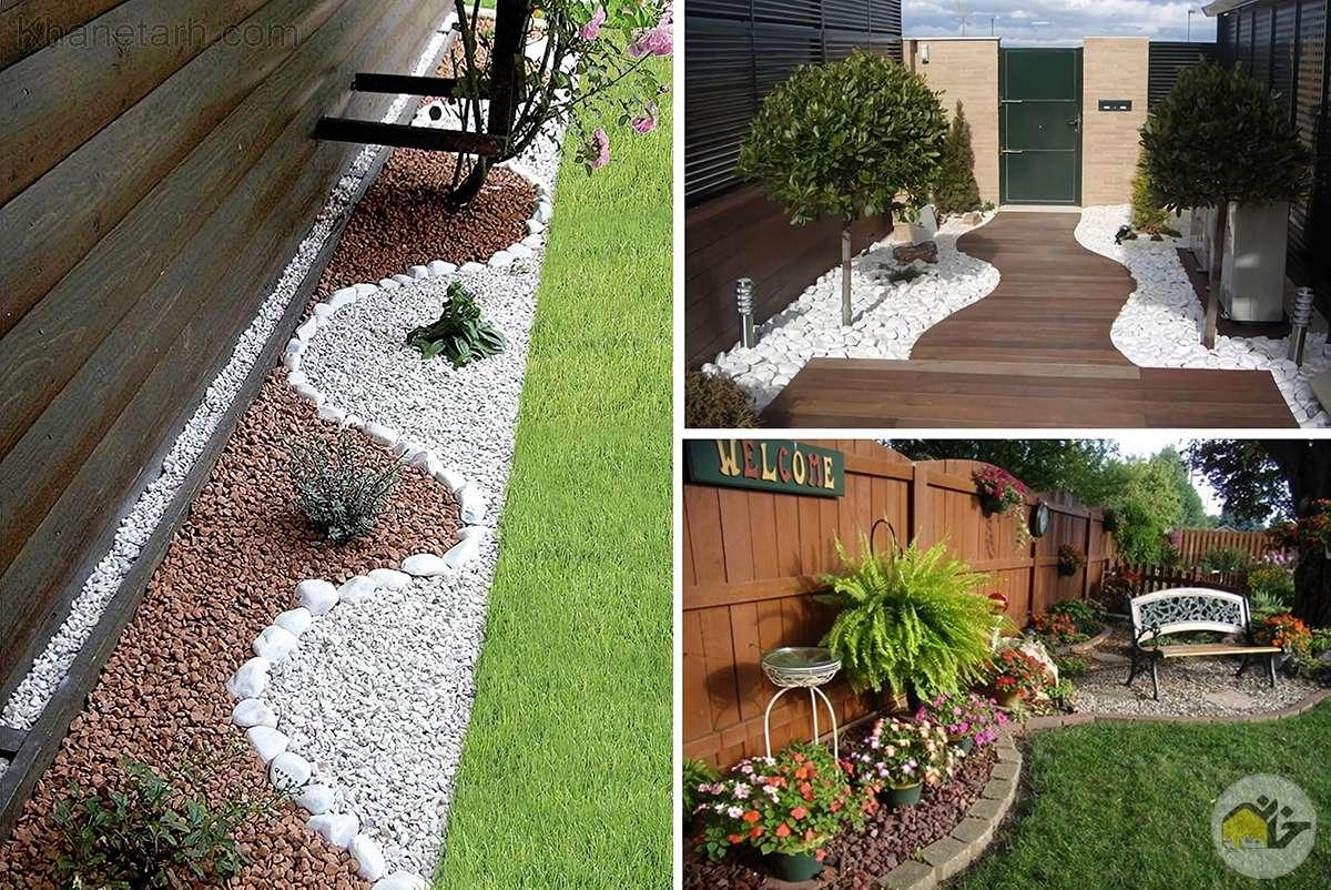 طراحی باغچه با سنگ