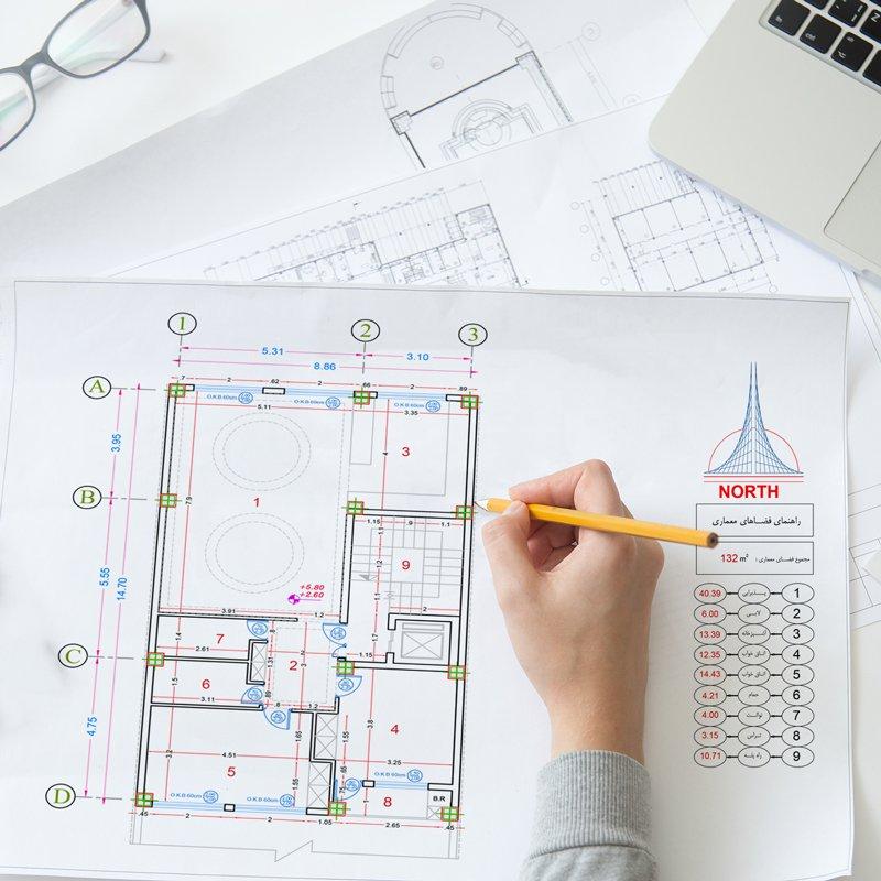 نقشه ساختمان مسکونی