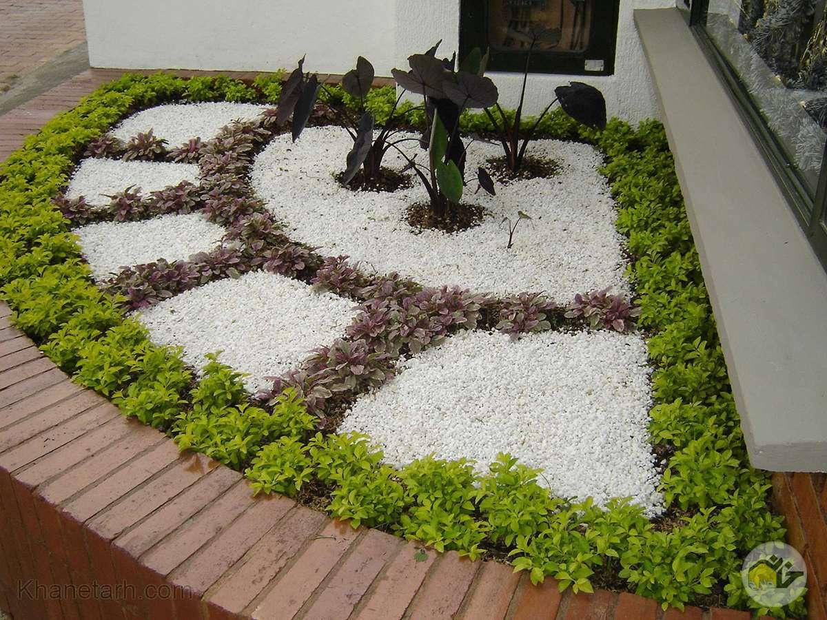 محوطه سازی باغچه کوچک