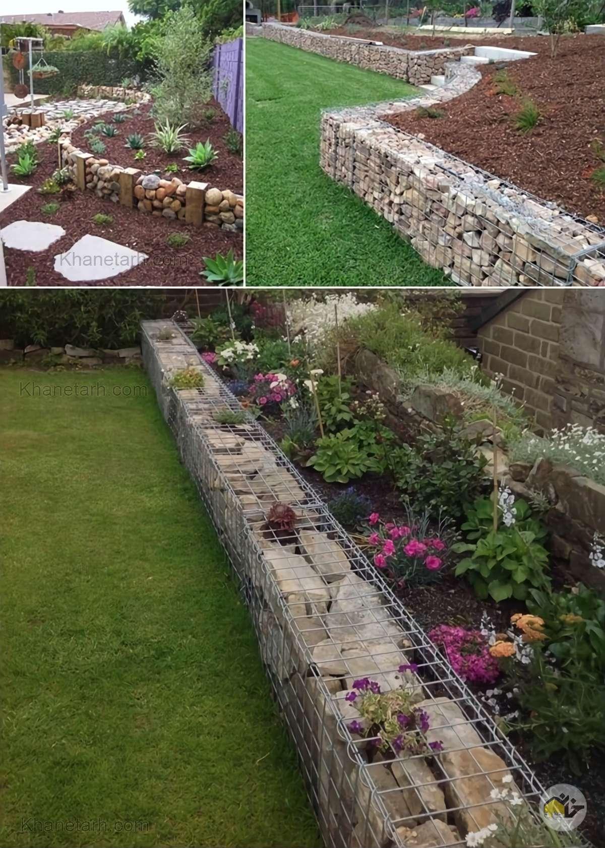 طراحی باغچه حیاط