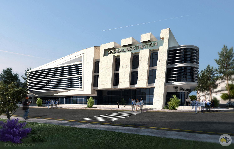نمای ساختمان تجاری دو طبقه