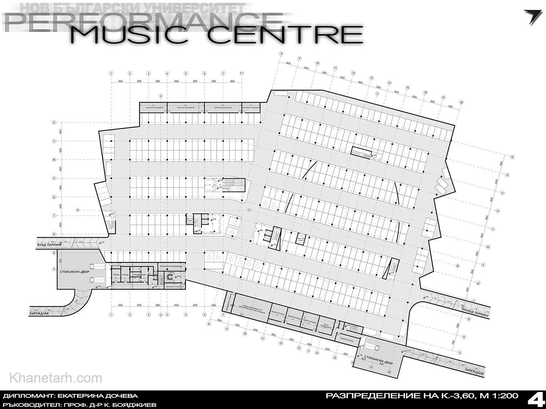 پلان سالن کنسرت