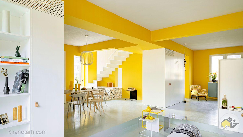 دکوراسیون زرد و سفید