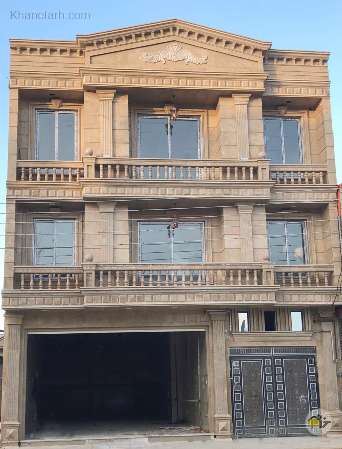 نمای رومی ساختمان دو طبقه جنوبی