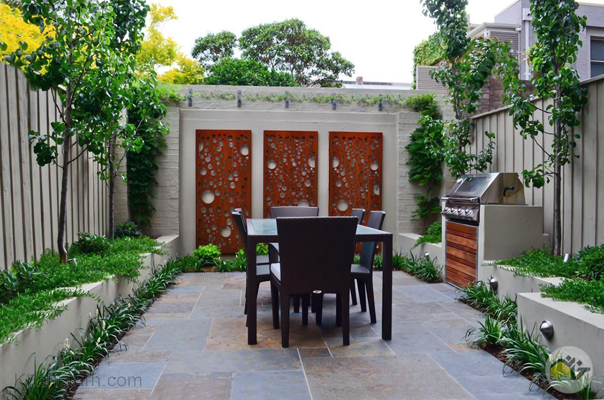 طراحی دیوار حیاط