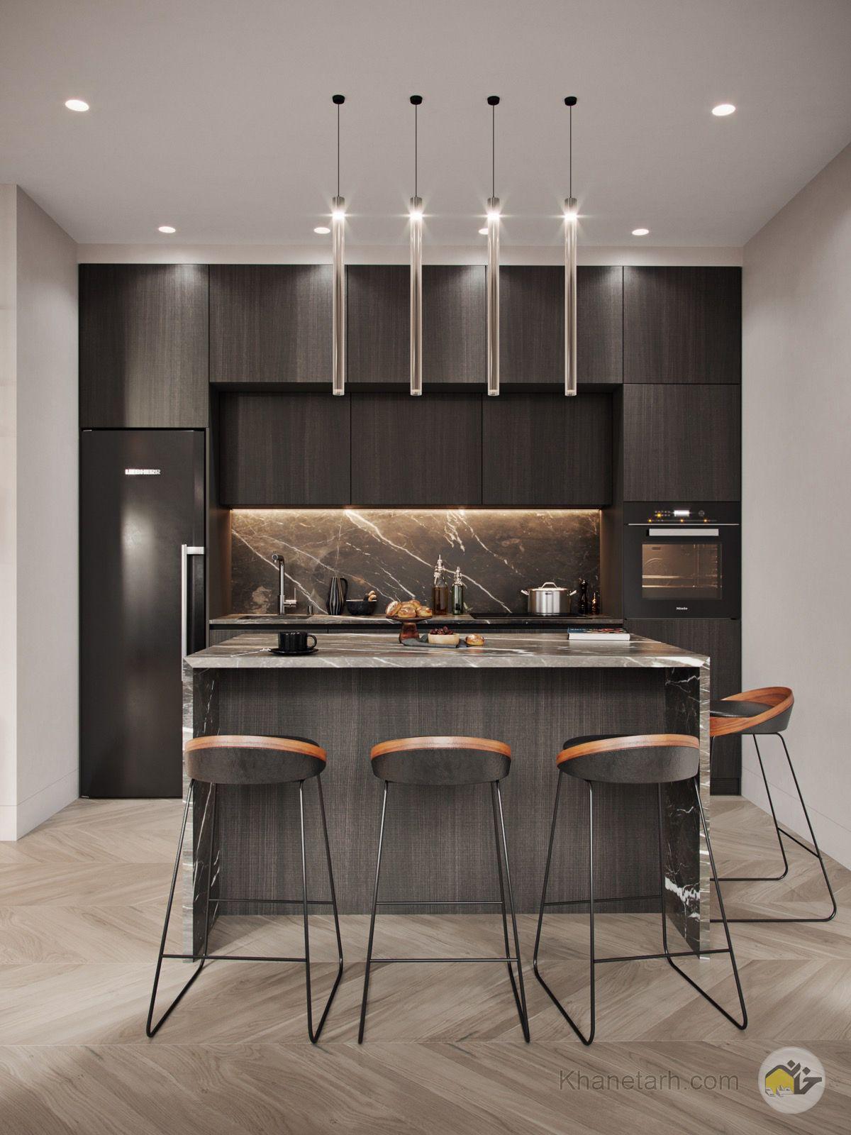 مدل کابینت آشپزخانه کوچک لوکس