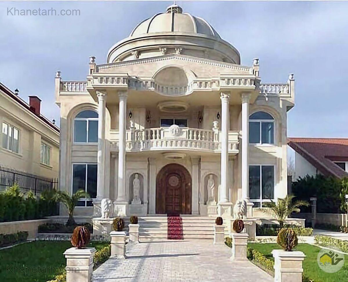 نمای ساختمان ویلایی ایرانی