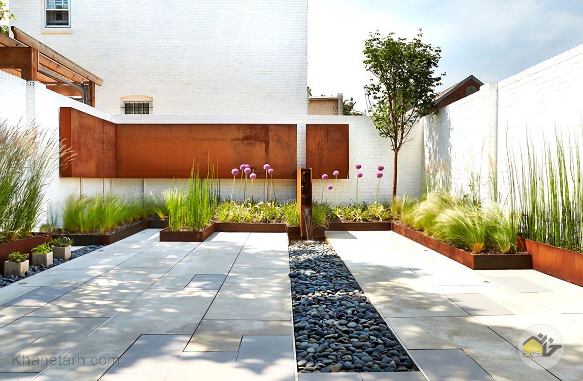 نمای بیرونی دیوار حیاط ویلایی