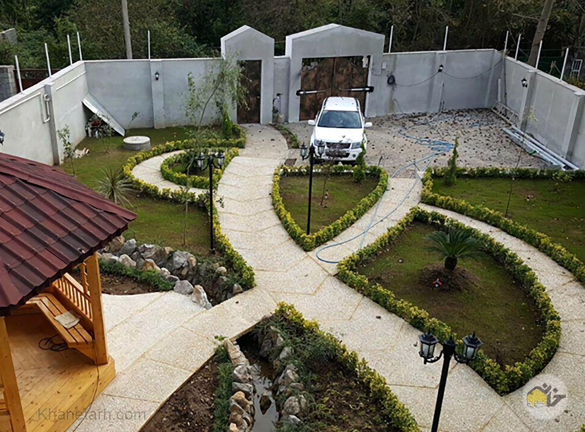 طراحی محوطه باغ و ویلا ایرانی