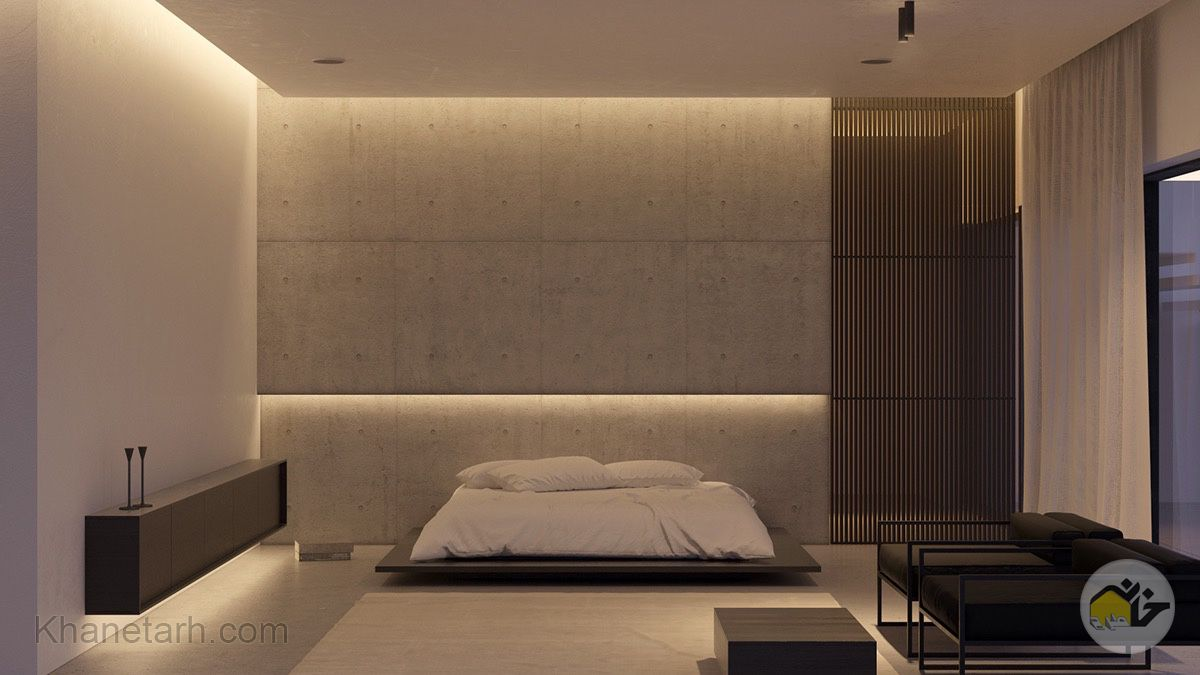 عکس اتاق خواب ساده و لاکچری