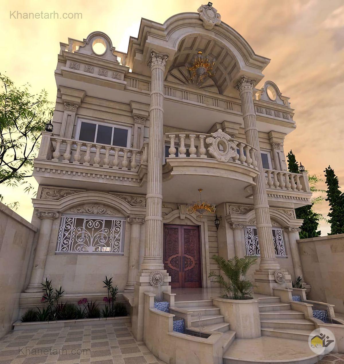 نمای خانه ویلایی