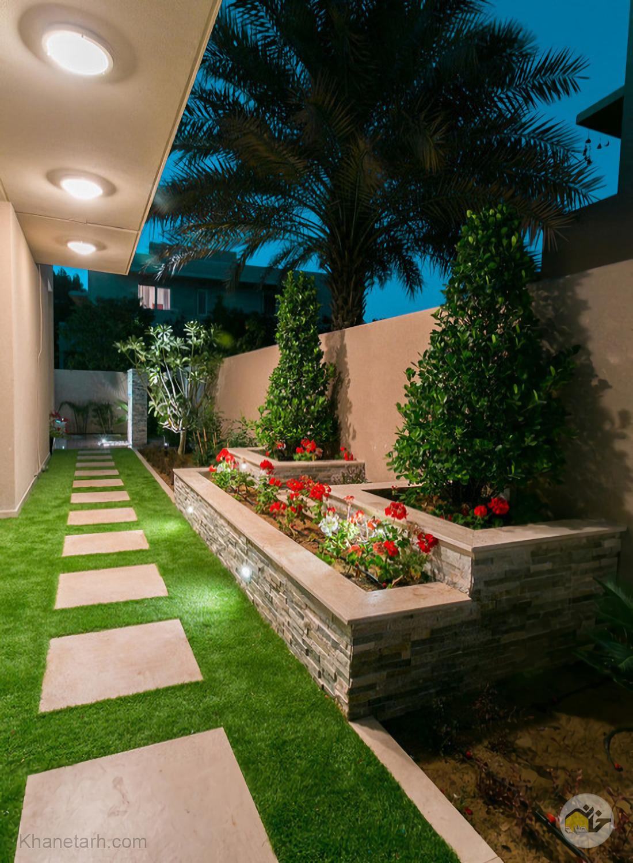 دیزاین حیاط ویلا