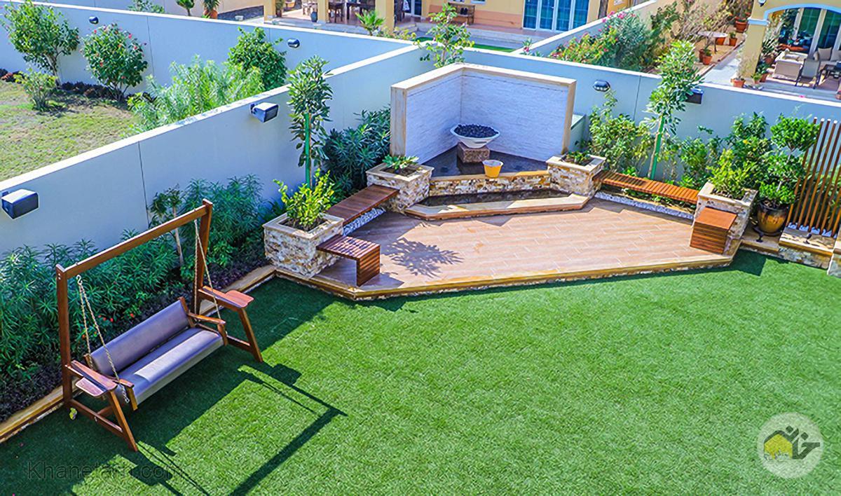 حیاط سازی خانه ویلایی