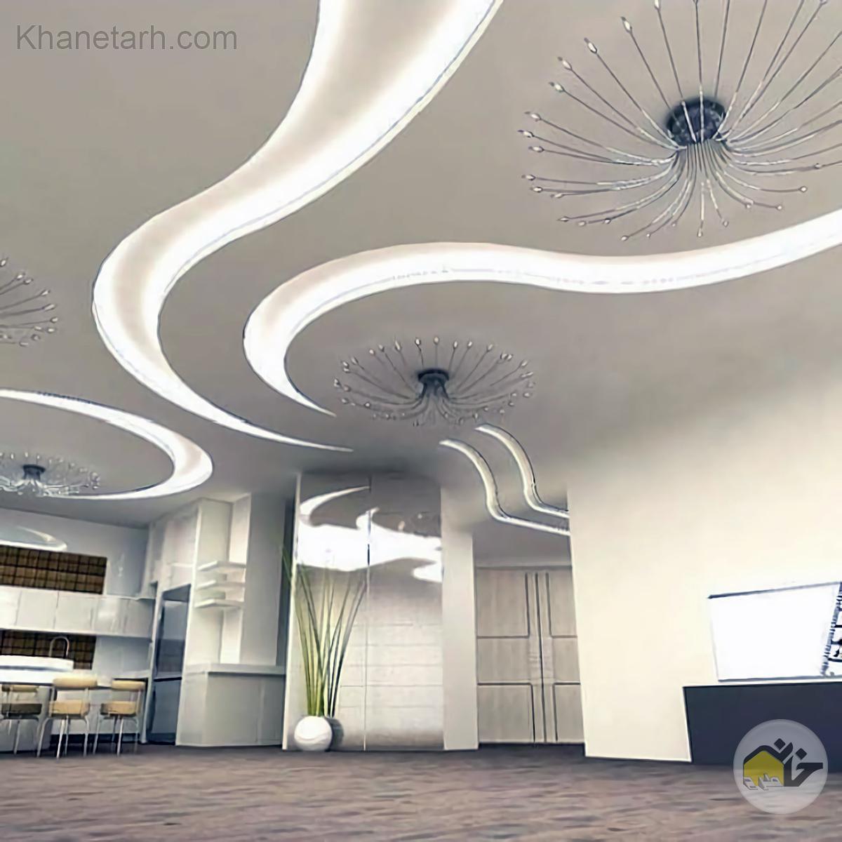 گچبری نور مخفی سقف