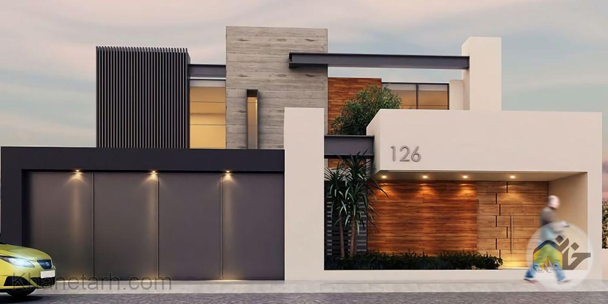 نمای ساختمان یک طبقه ساده