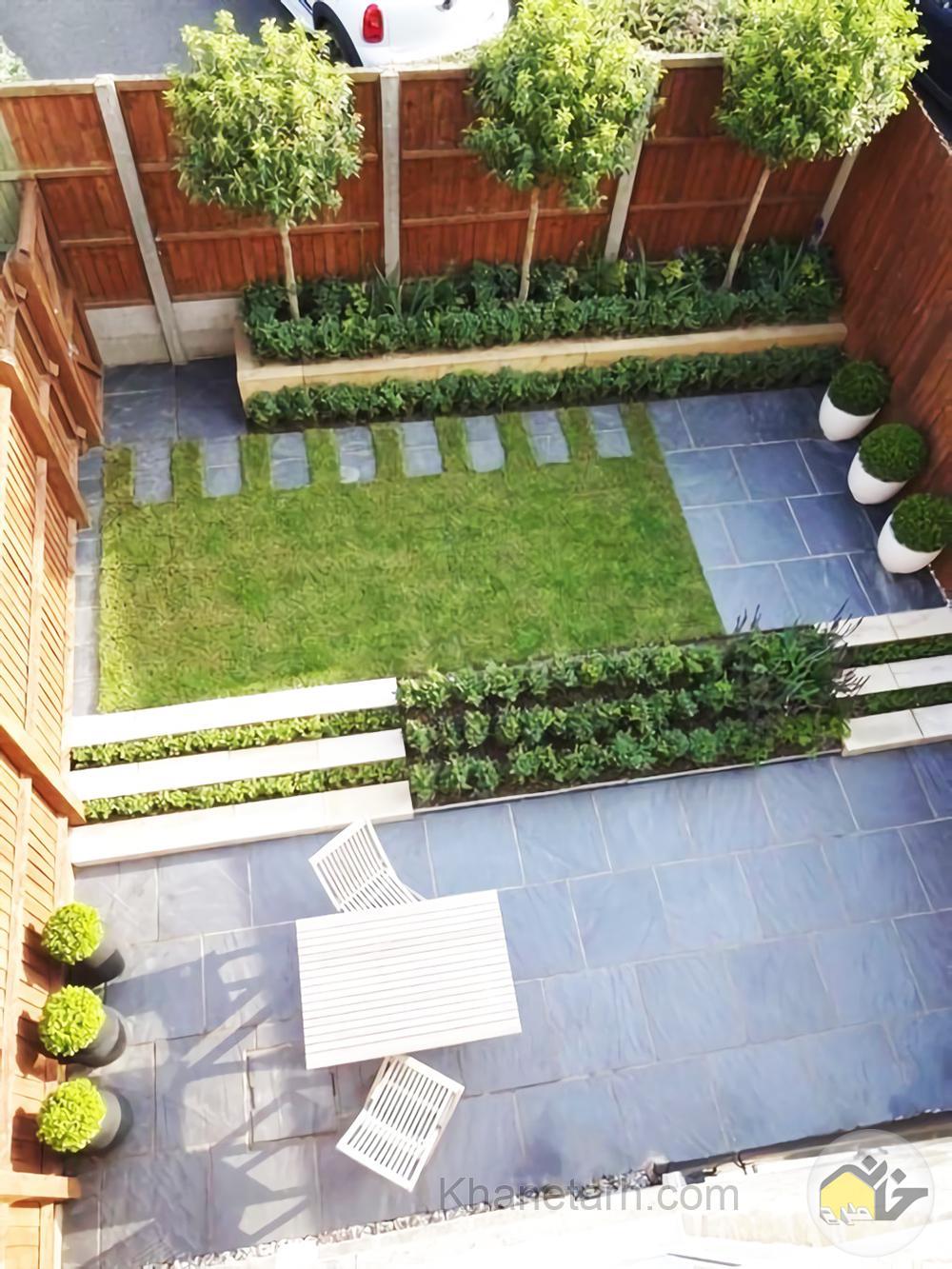 طراحی حیاط کوچک منزل ایرانی