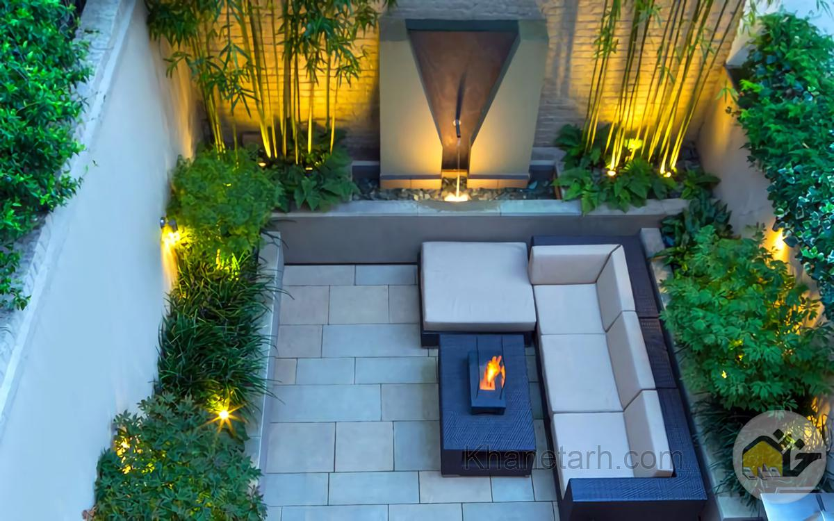 طراحی باغچه در حیاط کوچک منزل