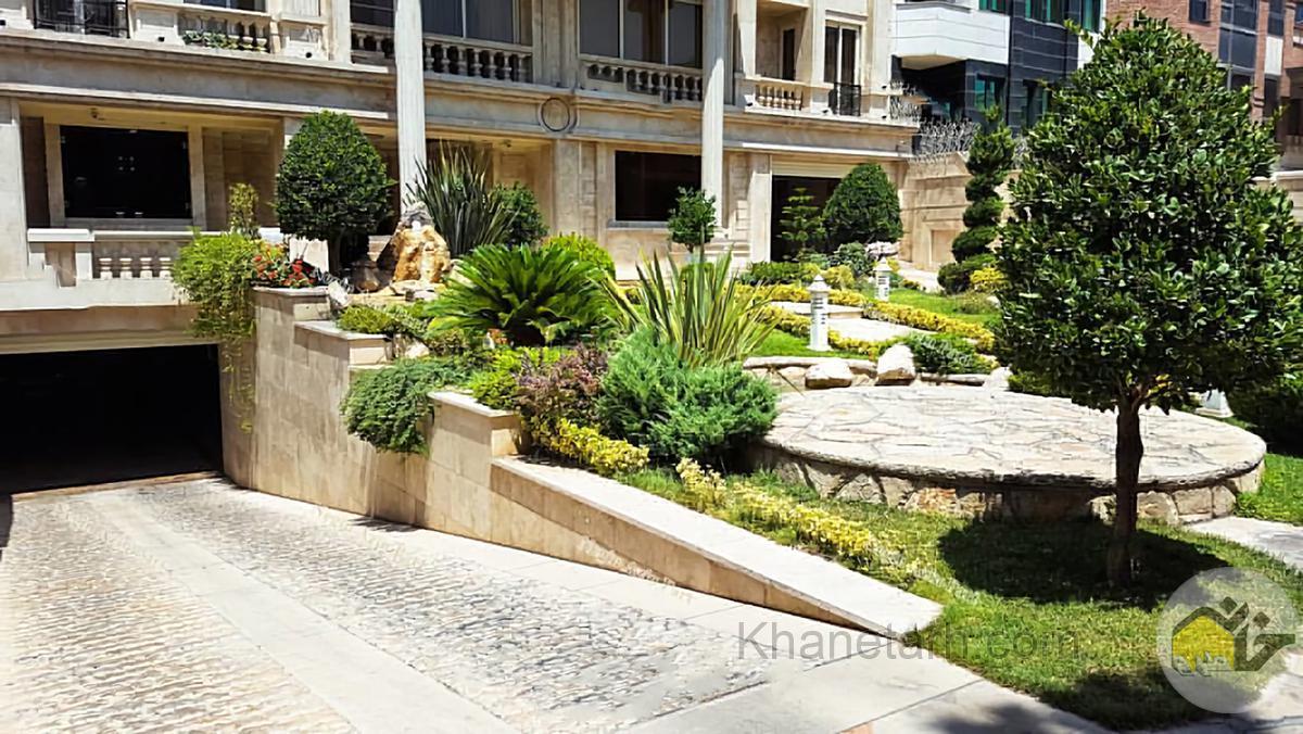 طراحی حیاط منزل ایرانی