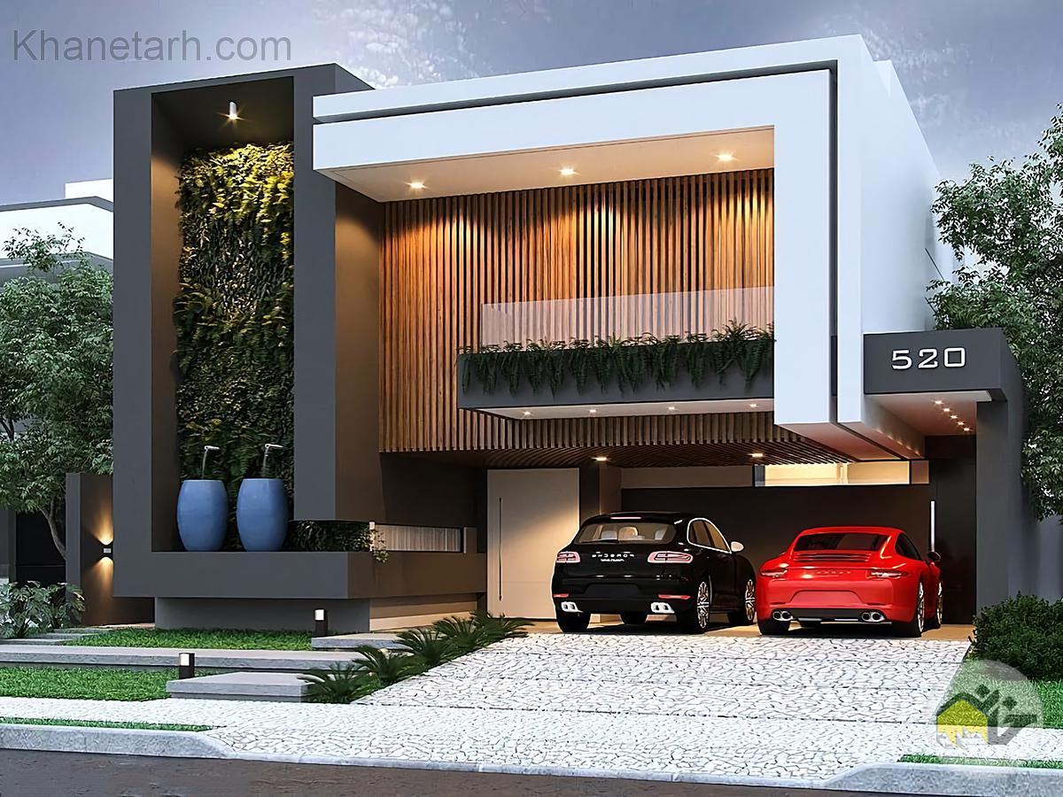 نمای خانه ویلایی ساده