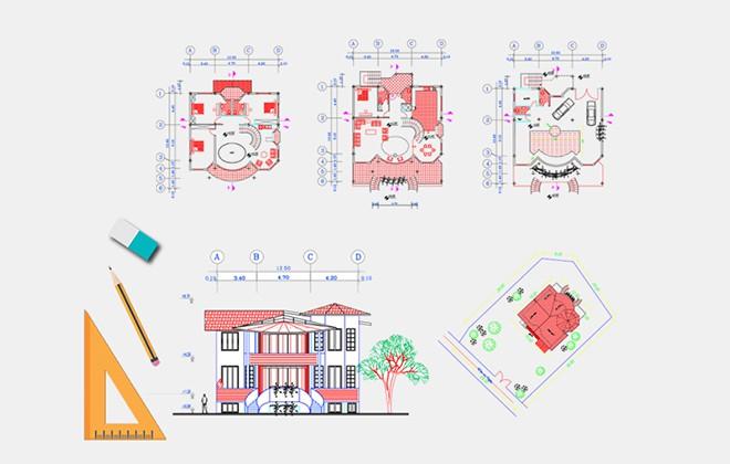 نقشه خانه ویلایی دوبلکس