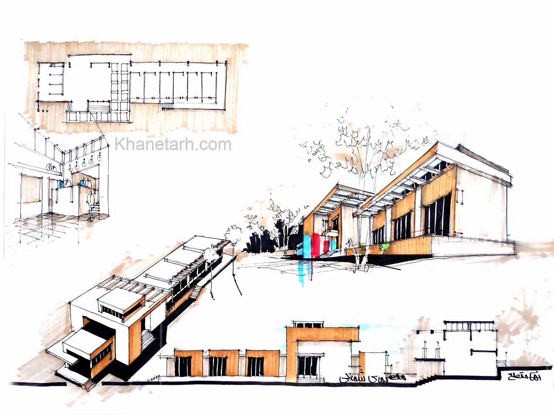 نمونه شیت بندی دستی معماری