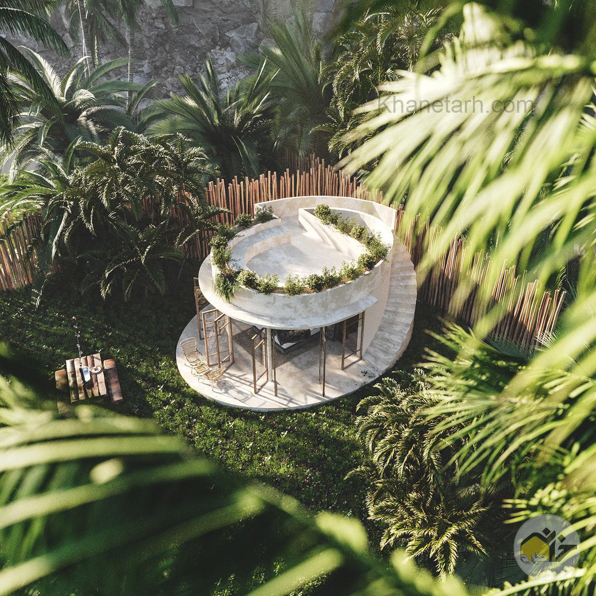 طرح آلاچیق برای باغ