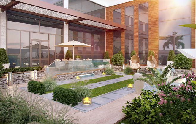 طراحی حیاط ویلا